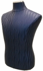 Blue-Wave Faux Leather Male Jersey Form