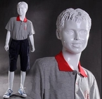 Modern, Abstract Boy Mannequin with Molded Hair - Ken