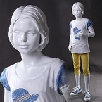 Modern, Abstract Girl Mannequin with Molded Hair - Kendra