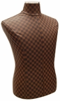 Brown-Checkered Faux Leather, Male Jersey Form