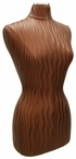 Stunning, Faux Caramel-Wave Leather Female Jersey/Dress Form