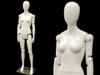 Up-Scale White, Poseable, Female Mannequin Display