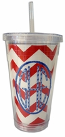 16 oz. Embroidery/Photo Insert Slurpy Tumbler with Straw
