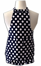 Clearance priced - Child Size Ruffled Apron - Polka Dot - Black/White