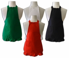 Child Size Ruffled Apron - Solid