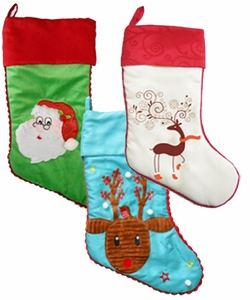 Clearance priced - Cubbie Christmas Stockings - 17""