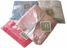 "Elegant Baby - 20"" x 20"" Satin Trim Microfiber Blankie with satin back"