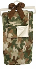 Fleece Blanket & Blankie Set - Camo