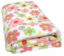 Fleece Blanket - Swirly Flower