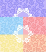 "Hawaiian 3"" Circle - QuickStitch Embroidery Paper"
