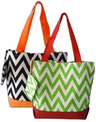 Holiday Chevron Tote Bags