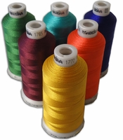 Madeira Poly Machine Embroidery 40wt Thread 1100 yd spool All 412 colors in numeric order.