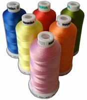 Madeira Rayon Machine Embroidery Thread 40wt 1100 yd  All 388 colors listed in numeric order.