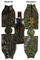 Mossy Oak Camo ZIPPER Bottle Insulator/Cooler