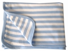 ***Overstock Sale*** - 30x30 Receiving Blanket - Blue Striped