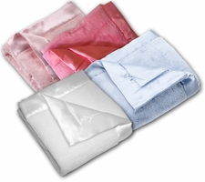 Satin Trim Microfiber Blankie with satin back