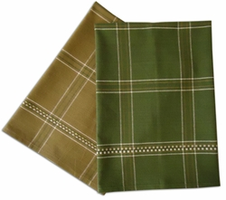 Clearance Priced - Plaid plain weave tea/ kitchen dish towels