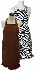 Ruffled Print & Solid Aprons - 100% cotton