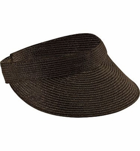 Clearance Priced - San Diego Hat Company Sport Ultra Braid Visor - CHOCOLATE