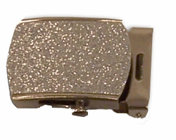 Silver Glitter Nickel-Plated Military Style buckle