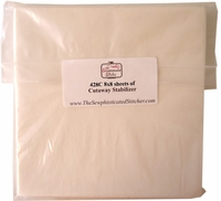 """Special Purchase - 100 sheets 428C Cutaway Stabilizer 8""""x8"""""""