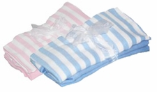 Stripe / Solid Baby Blanket Set