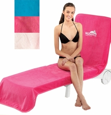 Velour Chaise Lounge Chair Cover