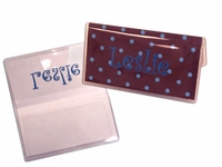 Vinyl Checkbook Cover with dup check flap