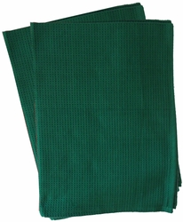 Clearance Priced - Waffle Weave Kitchen Towels - GREEN
