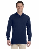 50/50 Long-Sleeve Jersey Polo with SpotShield�