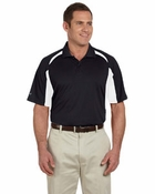 Men�s  Contrast Block Performance Dobby Polo