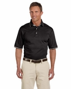 Men's  Cotton Jersey Short-Sleeve Polo with Tipping