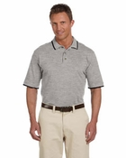 Short-Sleeve Piqu� Polo with Tipping