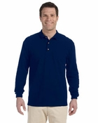 Ultra Cotton� Ringspun Piqu� Long-Sleeve Polo