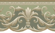 Architectural Scroll Acanthus Wallpaper Border KN73611DC