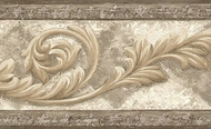 Architectural Acanthus Scroll Wallpaper Border AR75350L
