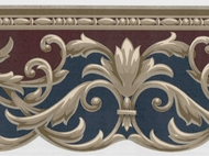 Architectural Scroll Wallpaper Border KN73609dc