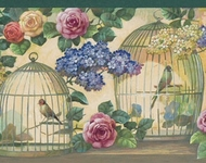 Bird Cages Wallpaper Border 105720b