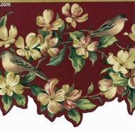 Birds Dogwood Wallpaper Border TS106404