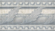 Blue/Gray Acanthus Leaf Wallpaper Border AJ102500