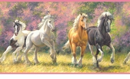 Born To Run Horse Wallpaper Border GIR94041b