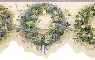 Calico Wreaths Wallpaper Border FAM65073b