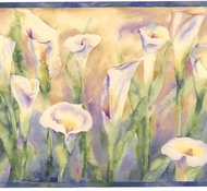 Calla Lily Flowers Wallpaper Border SI37154