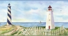 Coastal Lighthouse Wallpaper Border