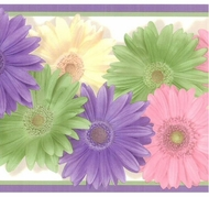 Colorful Daisies Wallpaper Border CK83241b
