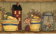 Country Cupboard Wallpaper Border AAI08032b