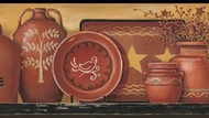 Country Redware Wallpaper Border HK4604bd