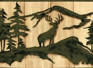 Deer, Bear, Moose Silhouette Wallpaper Border WL5537b