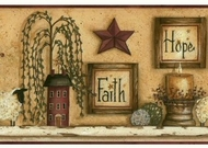 Faith Hope Love Shelf Wallpaper Border CN1136bd