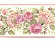 Floral Rose Wallpaper Border GU92102b